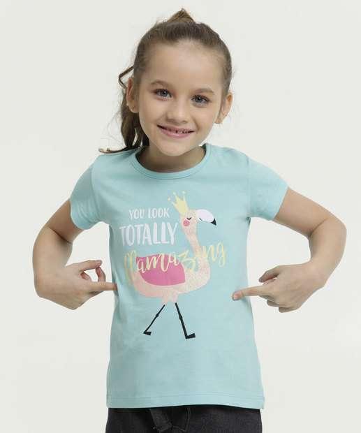 Image_Blusa Infantil Estampa Flamingo Manga Curta Marisa