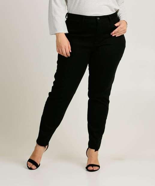 Image_Calça Plus Size Feminina Sarja Skinny