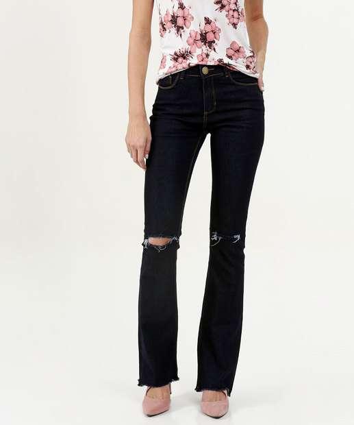 Image_Calça Feminina Destroyed Flare Five Jeans