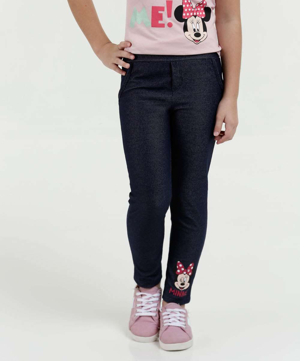 a175246667 Calça Legging Infantil Minnie Disney