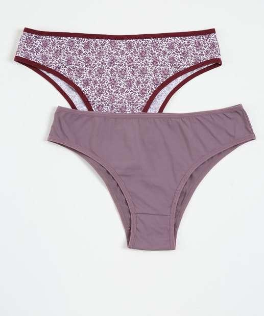 Image_Kit Feminina 2 Calcinhas Estampa Floral Plus Size Marisa