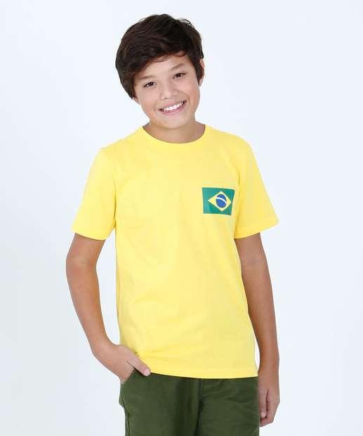 Image_Camiseta Juvenil Estampa Bandeira do Brasil Marisa
