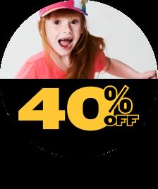 Infantil 40% OFF
