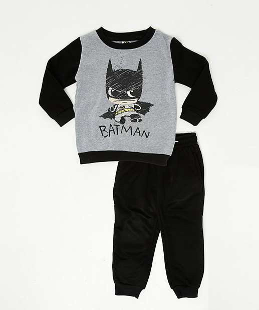 Image_Conjunto Infantil Moletom Batman Liga da Justiça