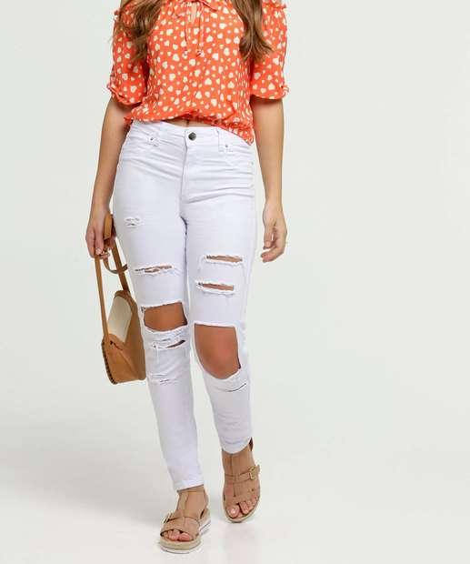 Image_Calça Jeans Destroyed Skinny Feminina Push Up Sawary