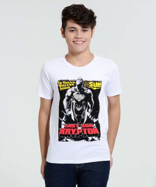 Image_Camiseta Juvenil Super Homem Liga da Justiça
