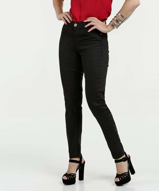 Image_Calça Feminina Jeans Cintura Média Skinny Sawary