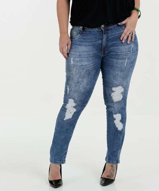 Image_Calça Feminina Jeans Skinny Destroyed Plus Size Biotipo