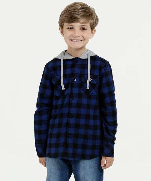 Image_Camisa Juvenil Estampa Xadrez Capuz Flanelada Mr