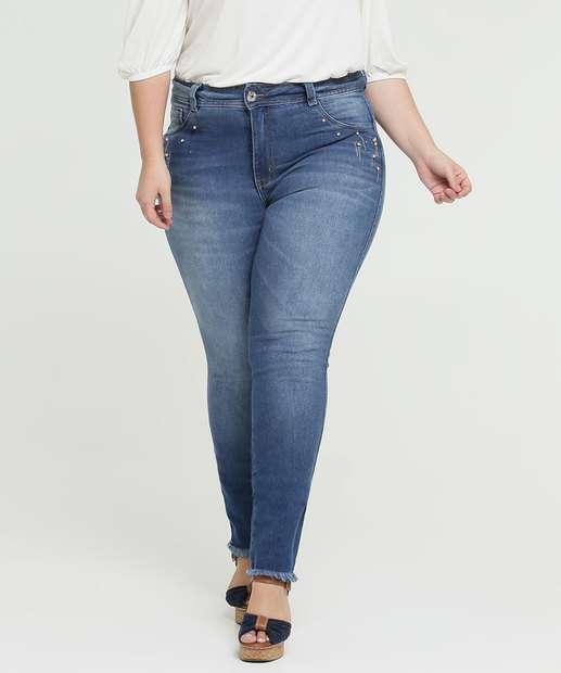 Image_Calça Jeans Skinny Feminina Strass Plus Size Biotipo
