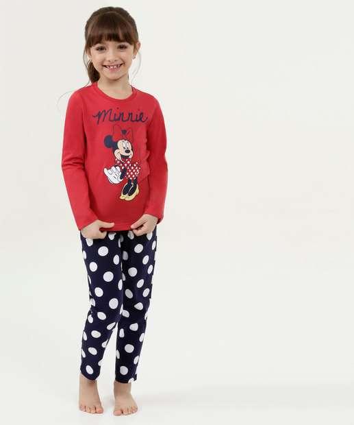 Image_Pijama Infantil Estampa Minnie Manga Longa Disney