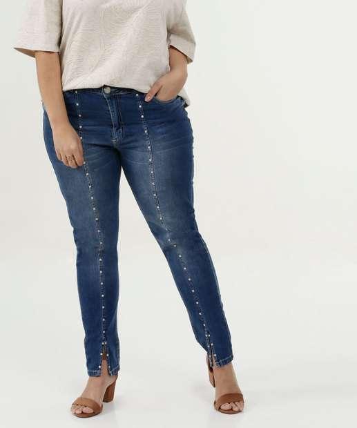 Image_Calça Feminina Skinny Pérolas Plus Size Razon