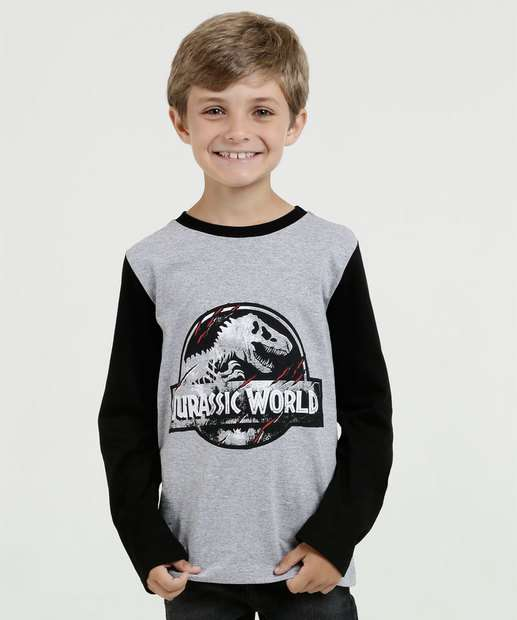 Image_Camiseta Infantil Estampa Jurassic World Manga Longa Universal