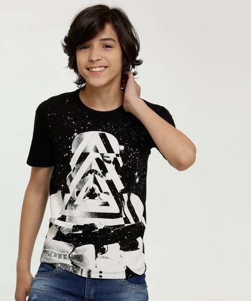 Image_Camiseta Juvenil Estampa Star Wars Manga Curta Disney