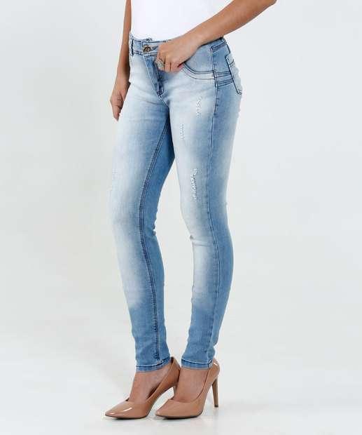 Image_Calça Feminina Skinny Jeans Puídos Sawary