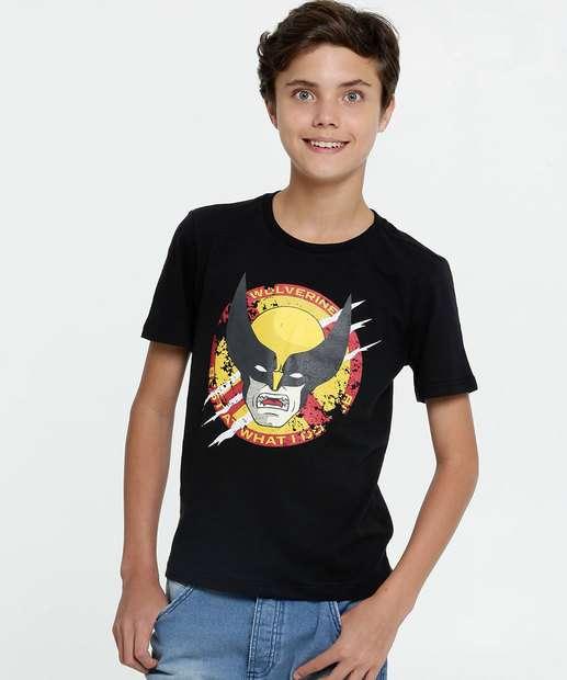 Image_Camiseta Juvenil Estampa Wolverine Manga Curta Marvel