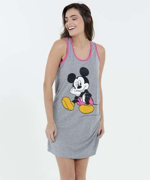 Image_Camisola Feminina Estampa Mickey Nadador Disney