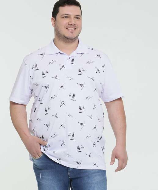 Image_Polo Masculina Estampa Barcos Plus Size MR