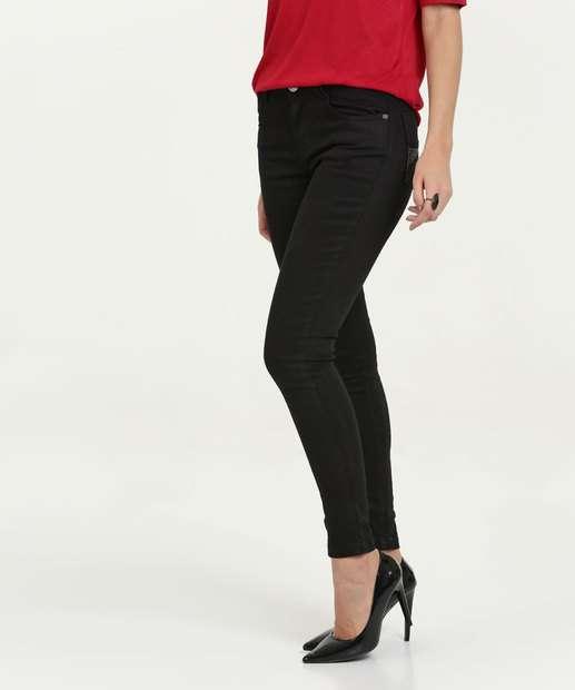 Image_Calça Feminina Sarja Skinny Cintura Média Uber Jeans