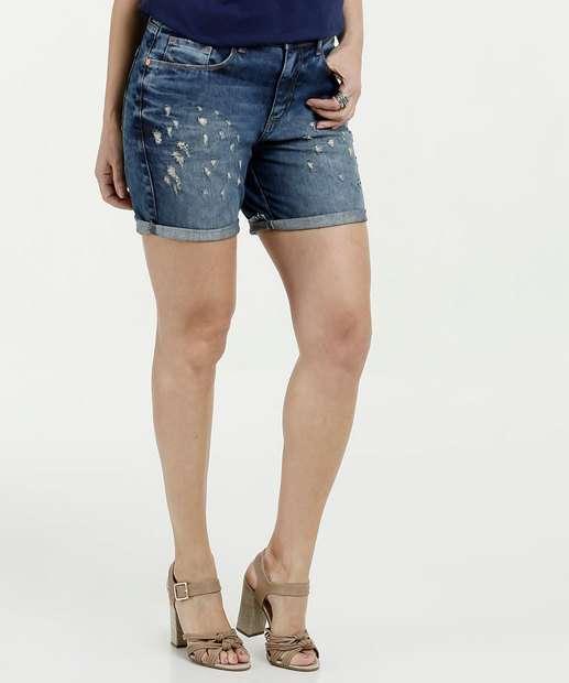 Image_Short Feminino Jeans Puídos Marisa