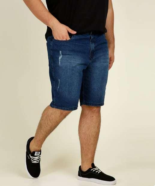 Image_Bermuda Masculina Jeans Puídos Plus Size Razon