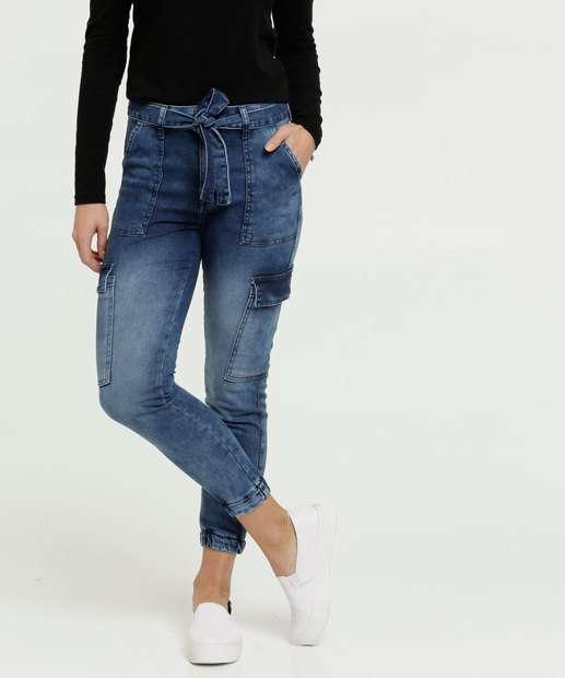 Image_Calça Feminina Cargo Capri Clochard Zune Jeans