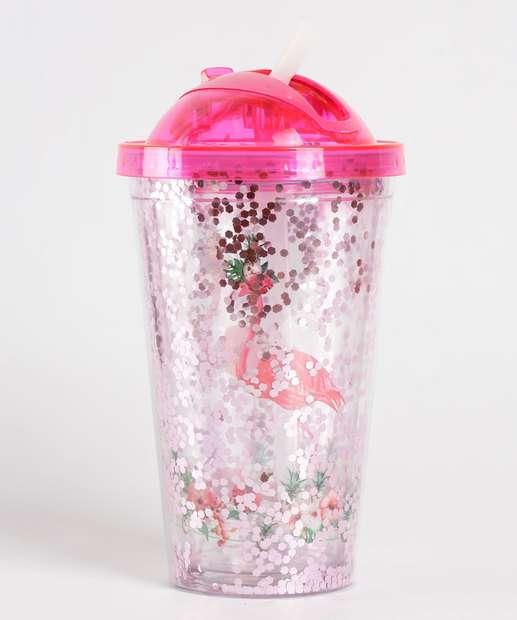 Image_Garrafa Squeeze Estampa Flamingo 450Ml Marisa