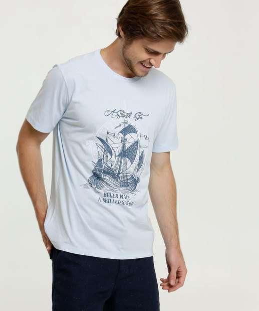 Image_Camiseta Masculina Estampa Barco Manga Curta MR