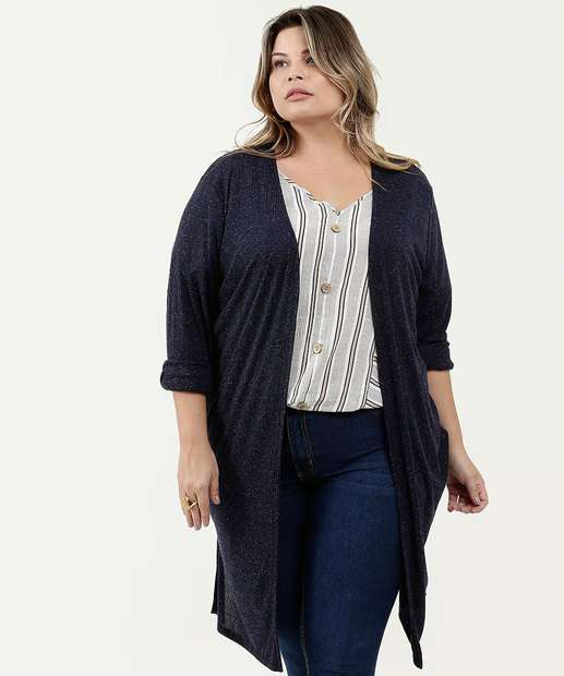Image_Capa Feminina Alongada Canelada Plus Size Marisa