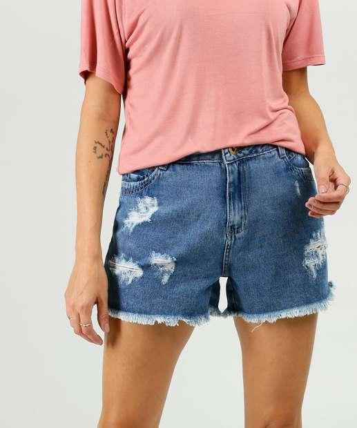 Image_Short Feminino Jeans Destroyed Sawary