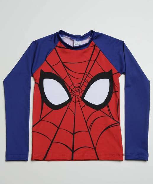 Image_Camiseta Infantil Praia Proteção UV Homem Aranha Marvel Tam 2 A 10
