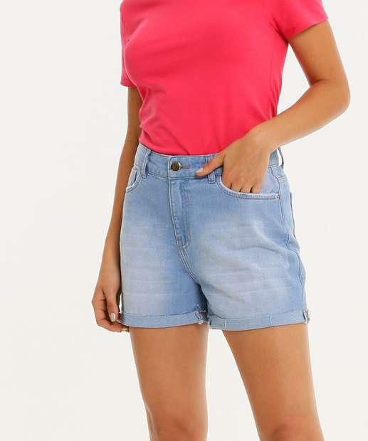 Image_Short Jeans Feminino Cintura Alta Marisa