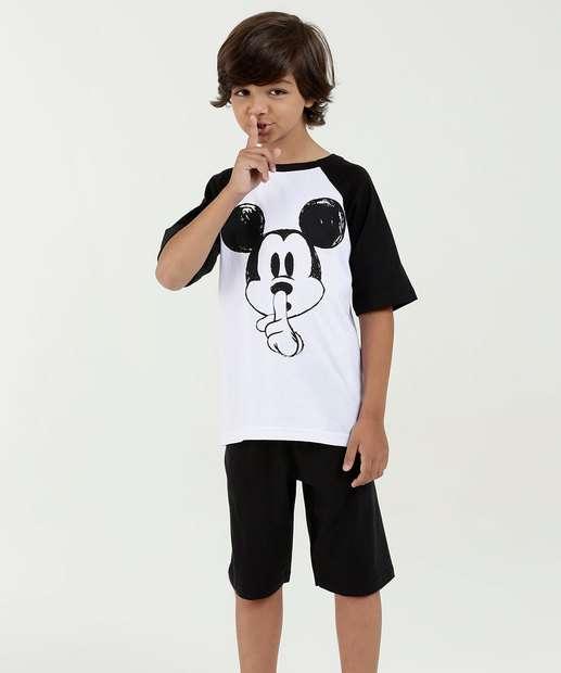 Image_Pijama Infantil Estampa Mickey Manga Curta Disney