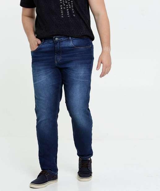 Image_Calça Masculina Jeans Slim Bolsos Plus Size