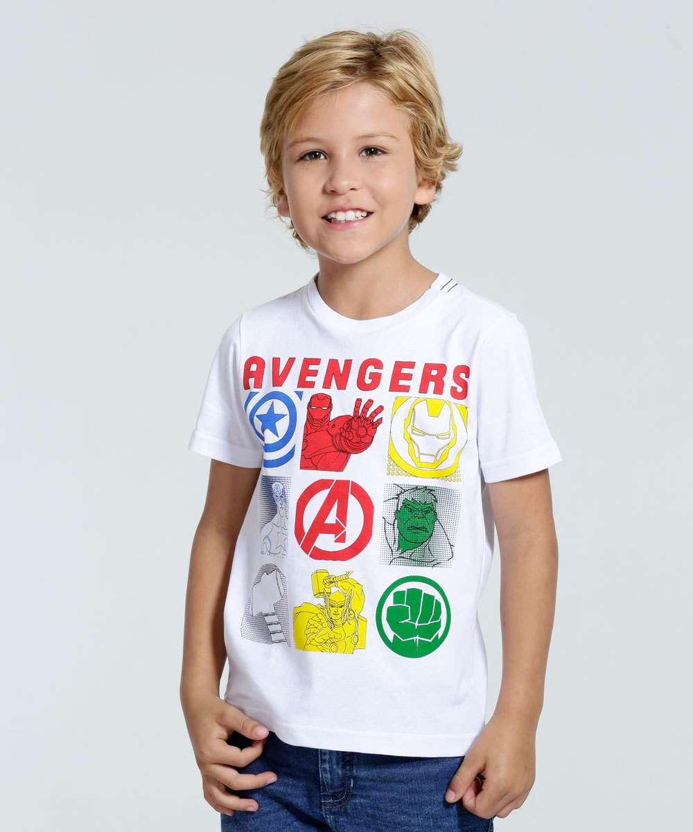 Camiseta Infantil Os Vingadores Marvel