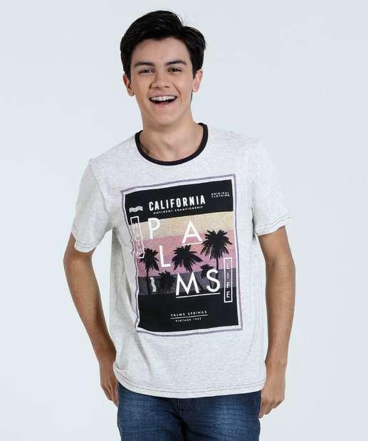Image_Camiseta Juvenil Estampa Coqueiros Marisa