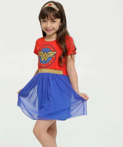 Image_Vestido Infantil Fantasia Mulher Maravilha Liga da Justiça