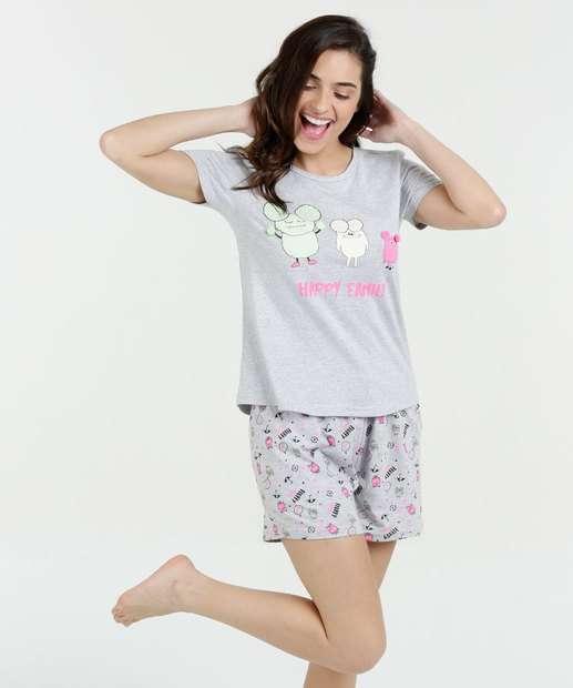 Image_Pijama Feminino Short Doll Estampado Manga Curta Marisa