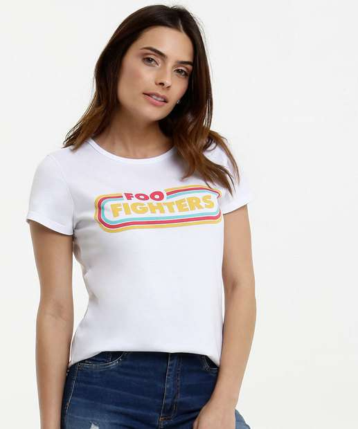Image_Blusa Feminina Estampa Foo Fighters Manga Curta Live Nation