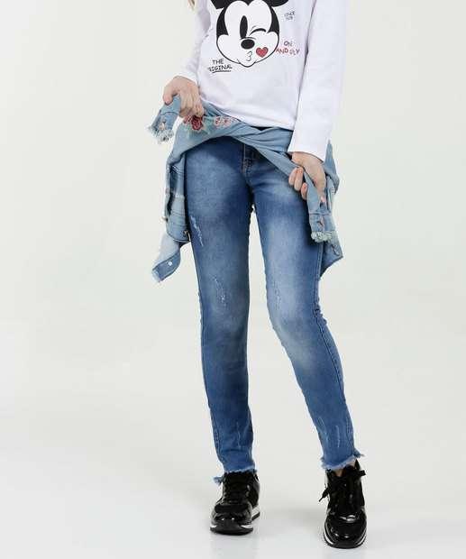 Image_Calça Juvenil Jeans Puídos