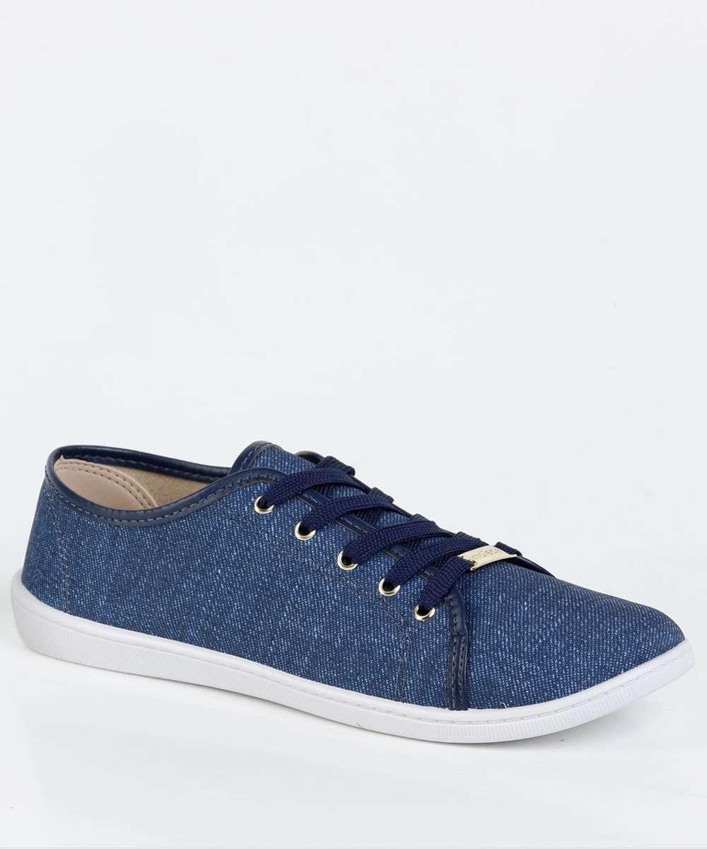 Tênis Feminino Casual Jeans Moleca 5605114
