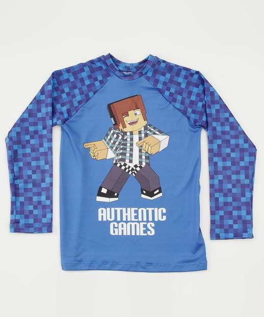 Image_Camiseta Infantil Praia Proteção UV Authentic Games