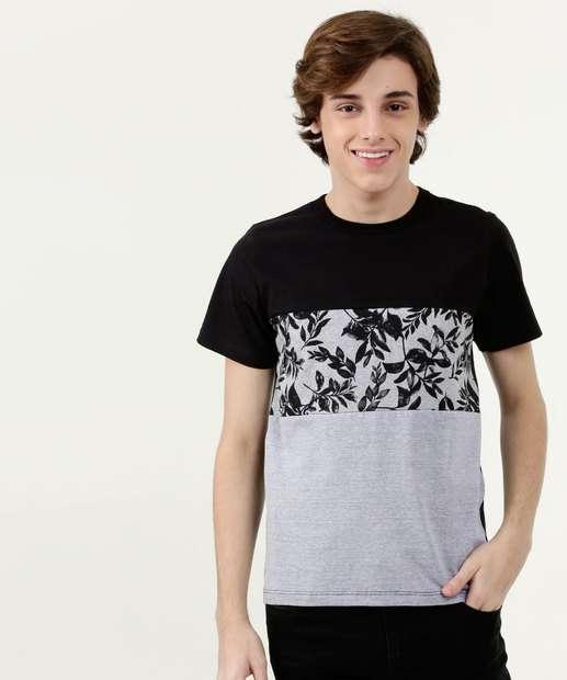 Image_Camiseta Juvenil Estampa Frontal Recorte Manga Curta