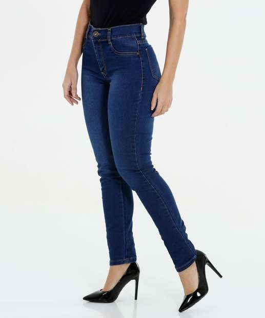Image_Calça Feminina Jeans Skinny Cintura Alta Sawary