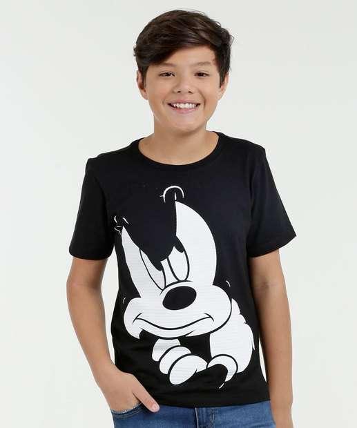 Image_Camiseta Juvenil Estampa Mickey Manga Curta Disney