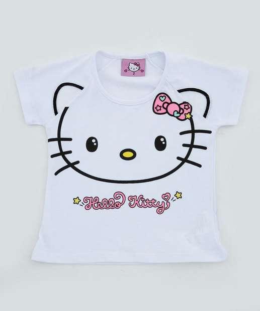 Image_Blusa Infantil Brilho Manga Curta Hello Kitty
