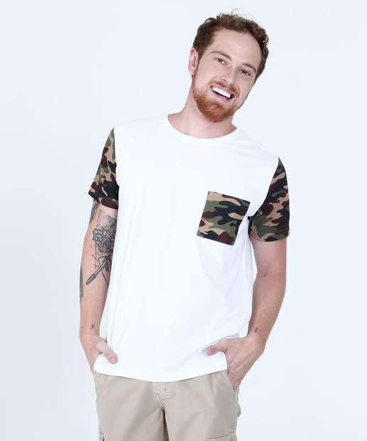 Image_Camiseta Masculina Recorte Camuflado Tribo