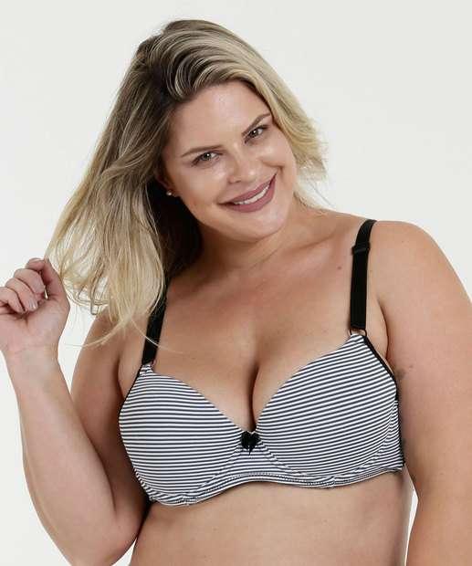 Image_ Sutiã Feminino  Listrado Com Base Plus Size Marisa
