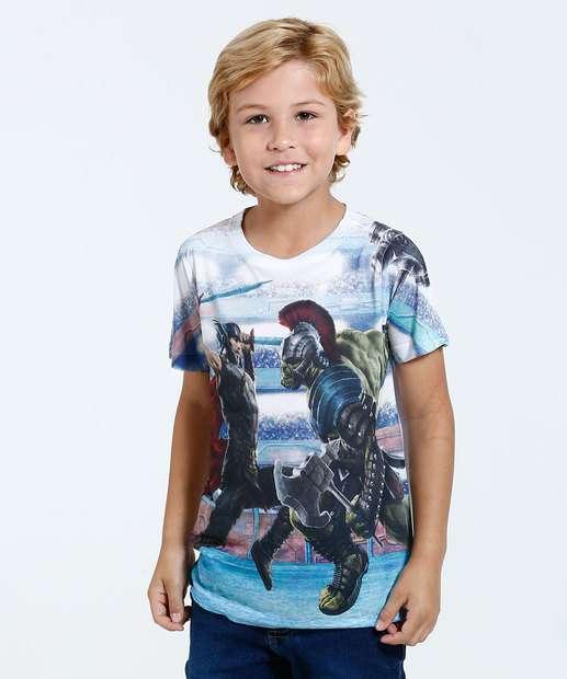 Image_Camiseta Infantil Estampa Thor e Hulk Marvel