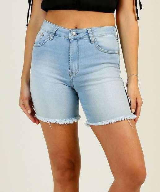 Image_Bermuda Jeans Feminina  Barra Desfiada Disparate